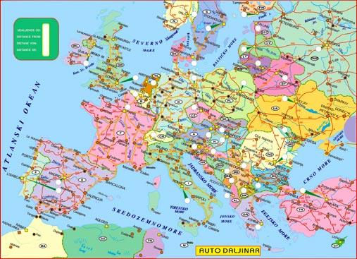 mapa evrope auto Autodaljinar Evrope mapa evrope auto